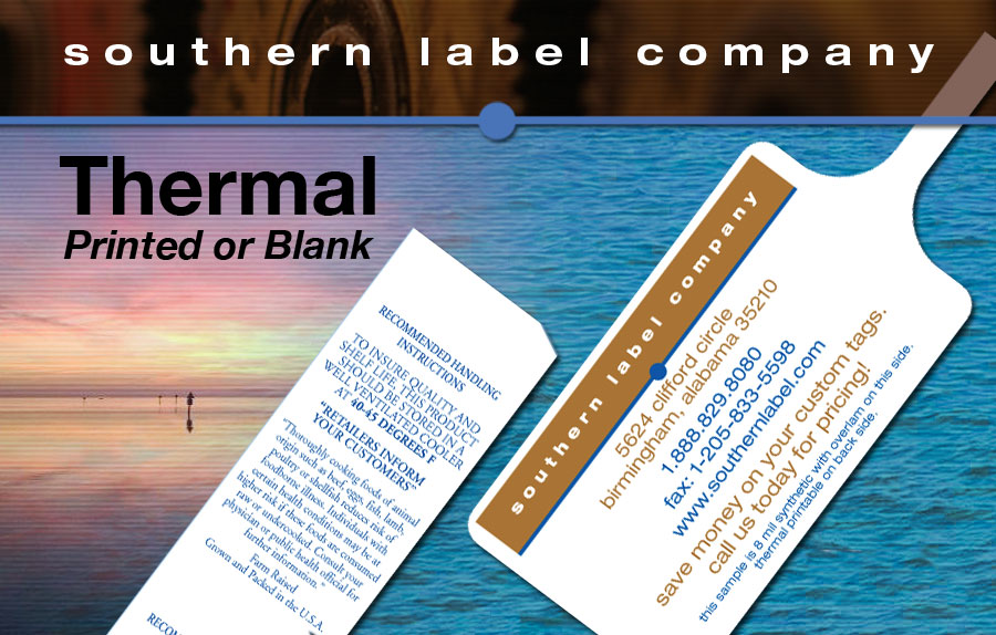 Shellfish Tags and Labels | 1-888-829-8080 | Southern Label
